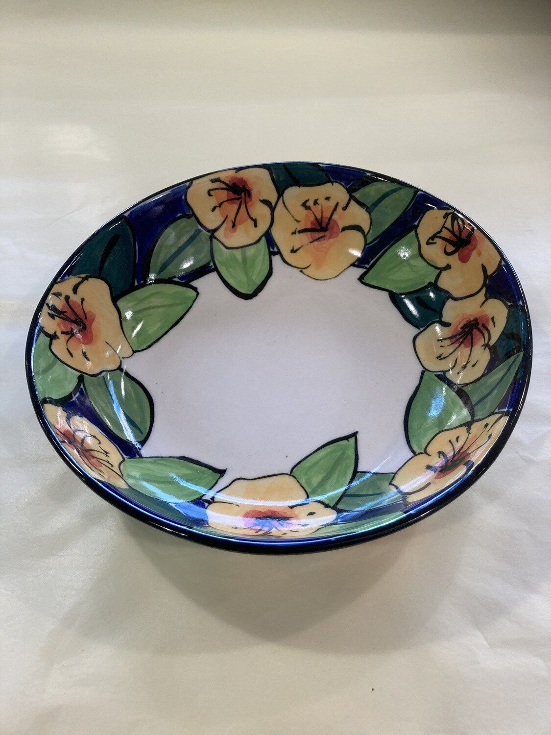 MARY LOU PITTARD- Straiht Sided Salad Bowl (small) 24cmD)/ 5.5cm(H)