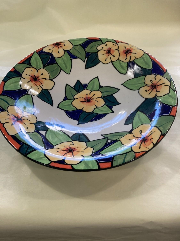 MARY LOU PITTARD- Large(rimmed) Salad Bowl 39cm(D)/6.5cm(H)