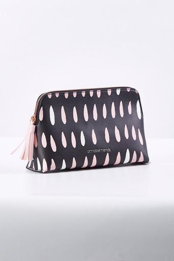 ANNABEL TRENDS- Large Vanity Bag  Raindrops 26cm(L)/18cm(H)/9cm(D)