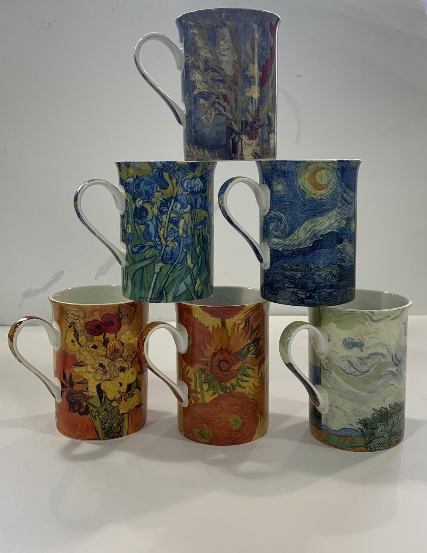 Heritage Artist Mugs Set Of 6