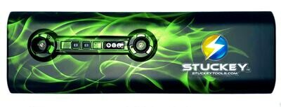 18 inch Hydro Dip Stuckey Cordless PDR LED Light Green Phantom Flame. Battery and Charger Included.