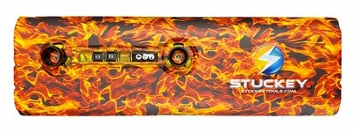18 inch Hydro Dip Stuckey Cordless PDR LED Light Orange Naughty Fire.  Battery and Charger Included.