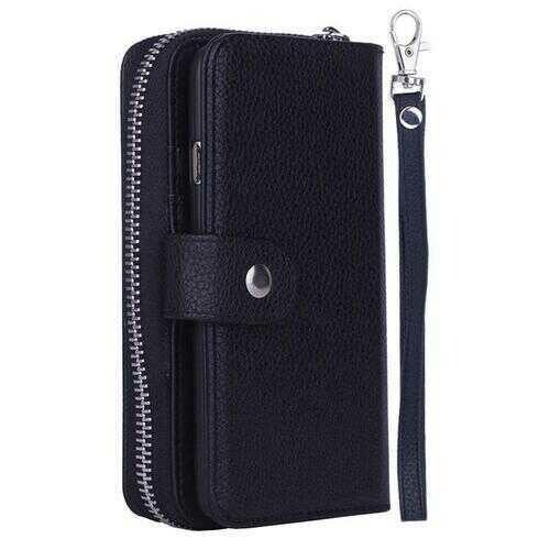 iPhone 6/6 Plus Clutch Purse with Detachable Phone Case -Color: Black, Style: iPhone 6 Plus