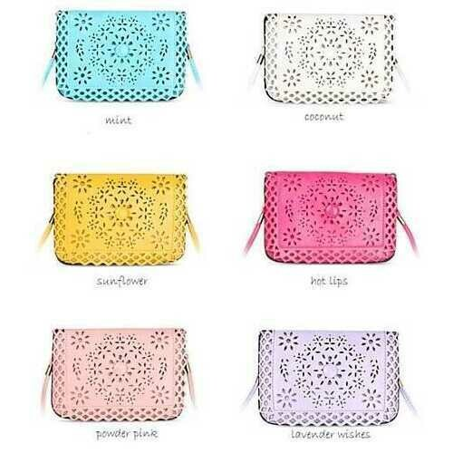 Social Butterfly A Flower And A Butterfly Filigree Design Crossbody Bag -Color: Lavender, Purse Style: Horizontal - Cross Body