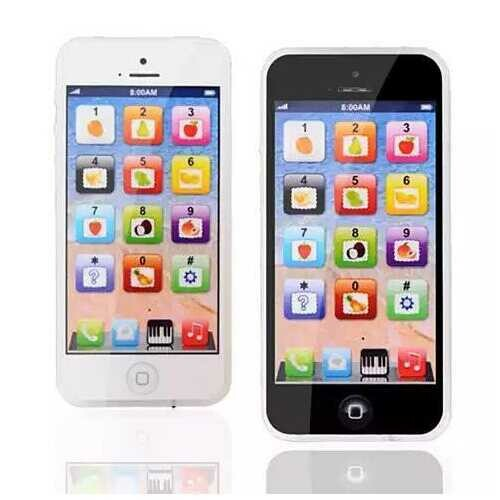So Smart Toy Phone With 8 Fun And Learning Functions - Color: Black Toy Phone