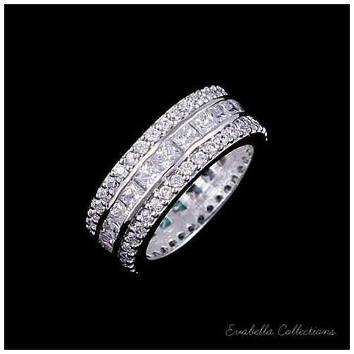 LUMINA Pure & Pink Banquet Rings -Size: 9, Color: Crystal Clear Stones