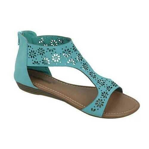 Crazy Daisies Summer Sandals -Color: Mint, Size: 6