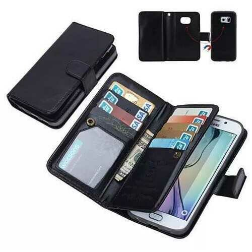 iPhone 6/6 Plus and Samsung Smartphone Removable Wallet Case with Wristlet -Color: Black, Style: Samsung Note 4