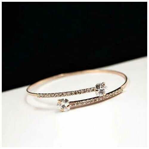 Heart and Soul Diamond Crystal Hearts Bracelet