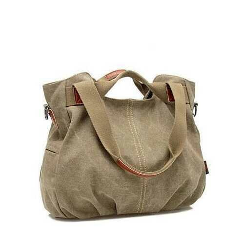ARM CANDY Handy Natural Canvas Handbag - Color: Juicy Pear