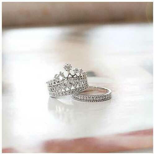 Princess Ring Set Of 2 - Size: Ring Size - 6