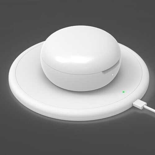 All Charged Up Bluetooth Earbuds With Wireless Charging Pad - Color: WHITE