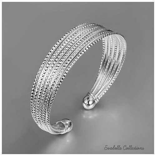 Alisa Diamond Cut Italian Design Rope Bracelet by Evabella