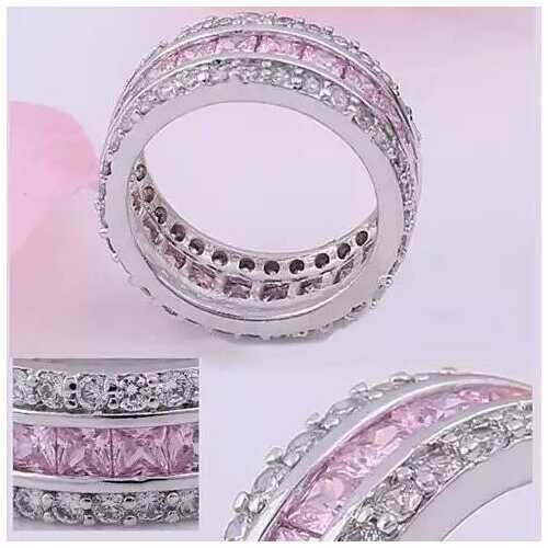 LUMINA Pure & Pink Banquet Rings -Size: 11, Color: Pink Stone