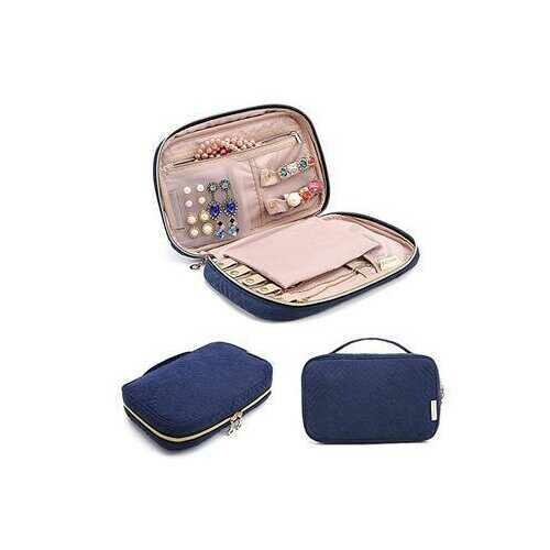 Nomad Jewelry And Accessory Pouch - Color: COBALT BLUE