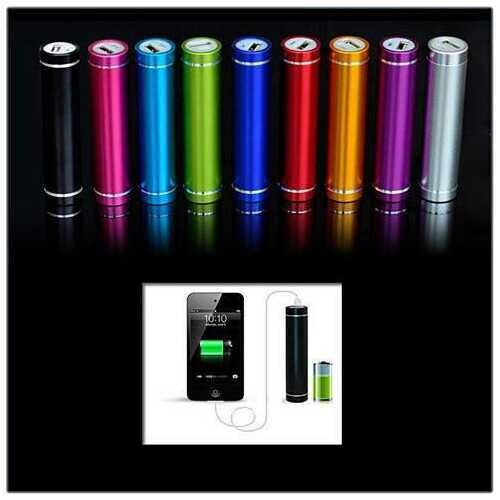 Power Roll Lipstick External Charger - Color: Silver
