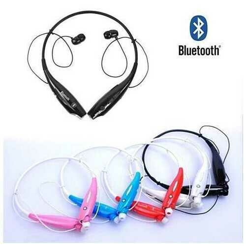 Bluetooth Magnetic headphones with phone answer function - Color: White/Red