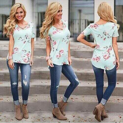 Beautiful Blooms Top In 5 Colors -Size: Small, Color: SWEET PINK