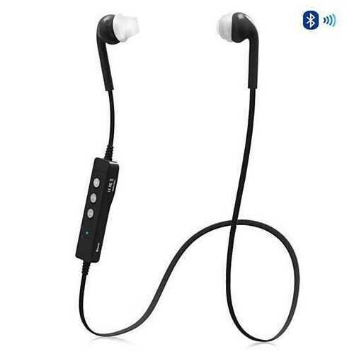 Genius! The FLEX NECK Bluetooth Headphones with Mic and Controls - Color: Black