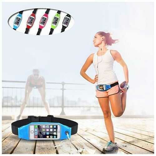 BOOST BELT Exercise Essential Pouch and Smartphone Case -Size: 5.5 Inch (iPhone 6 Plus / Samsung Note Etc.), Color: Sky Blue