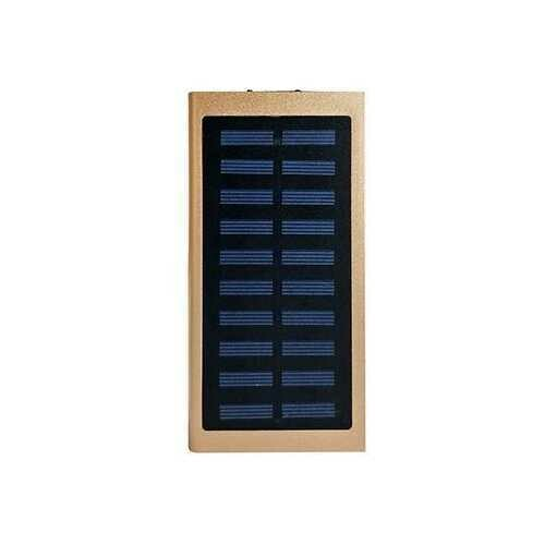 Slim Giant Solar Power Extender For All Gadgets With 2 USB Ports - Color: Gold