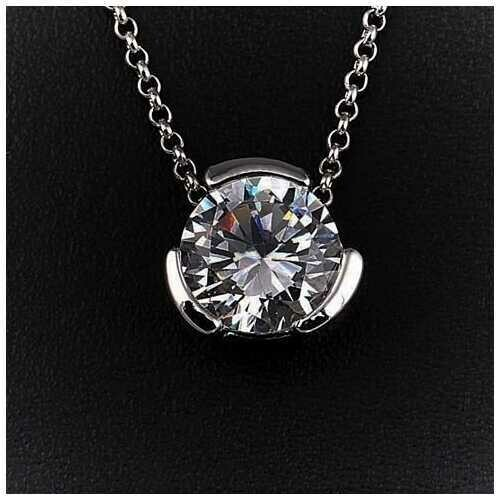 The Sentry - Pendant for a 12 mm Round Precious Stone - Color: Clear Diamond