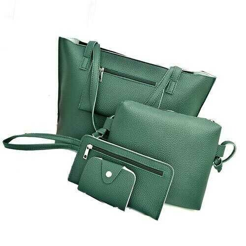 Uptown Handbag 4 In 1 Bags In A Bag - Color: HUNTER GREEN