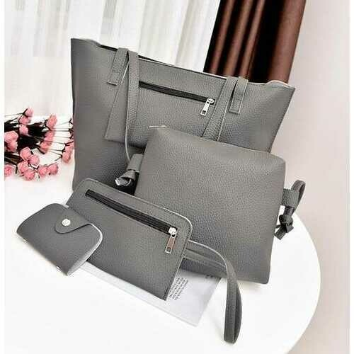 Uptown Handbag 4 In 1 Bags In A Bag - Color: SILVER SHADE