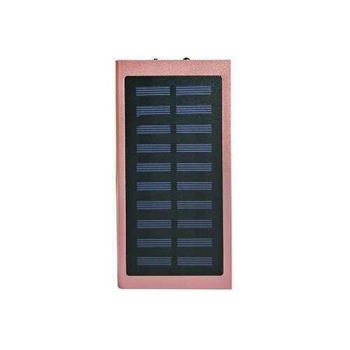Slim Giant Solar Power Extender For All Gadgets With 2 USB Ports - Color: ROSE PINK