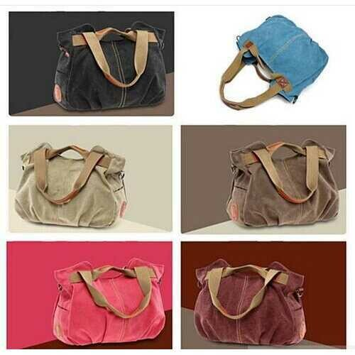 ARM CANDY Handy Natural Canvas Handbag - Color: Chocolate Mint