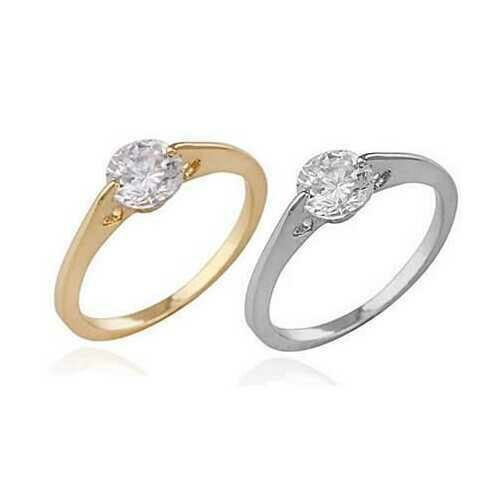 Promise To Love Ring -Style: 18Kt Platinum on Silver, Ring Size: Size 8