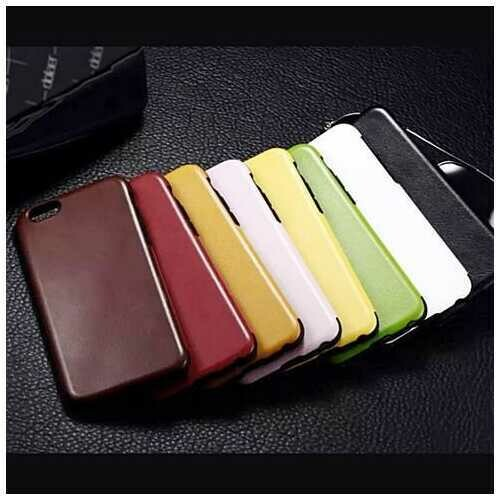 iPhone 6 Leatherette - Leather like case - Color: Yellow