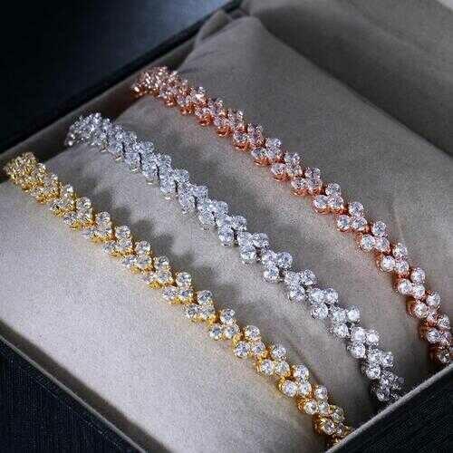 Stellar Triple Row Brilliant Bracelet - Color: ROSE GOLD