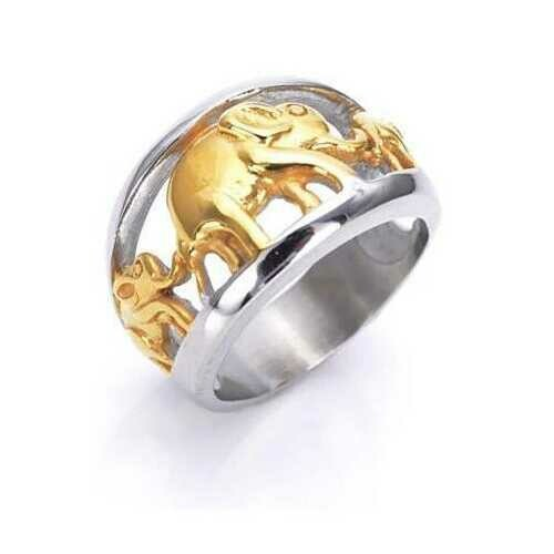 Golden Elephants Ring From TRUNK SHOW Collection - Size: Size - 9