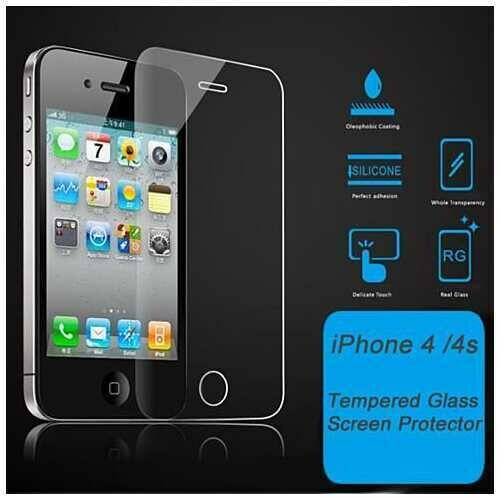 iPhone 4/4s & 5/5s/5c Glass Screen Protector - Style: iPhone 4/4s