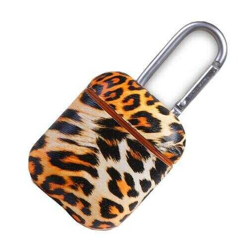 Habitat Air Pod Protective Cover Case In Leopard Print - Color: Brown