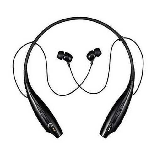 Bluetooth Magnetic headphones with phone answer function - Color: Black