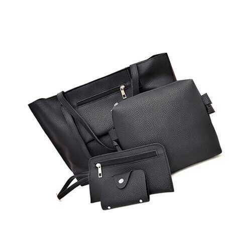Uptown Handbag 4 In 1 Bags In A Bag - Color: BEAUTIFUL BLACK