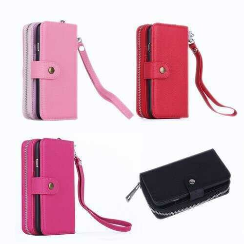 iPhone 6/6 Plus Clutch Purse with Detachable Phone Case -Color: Hot Pink, Style: iPhone 6 Plus