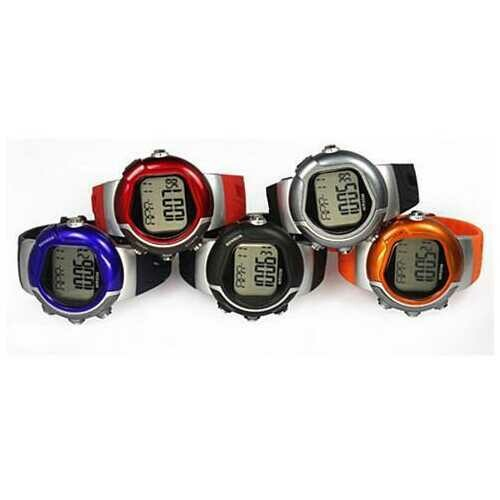 Sports Trainer Multi Function Watch - Color: Black