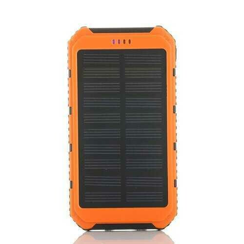 Roaming Solar Power Bank Phone or Tablet Charger - Color: Orange