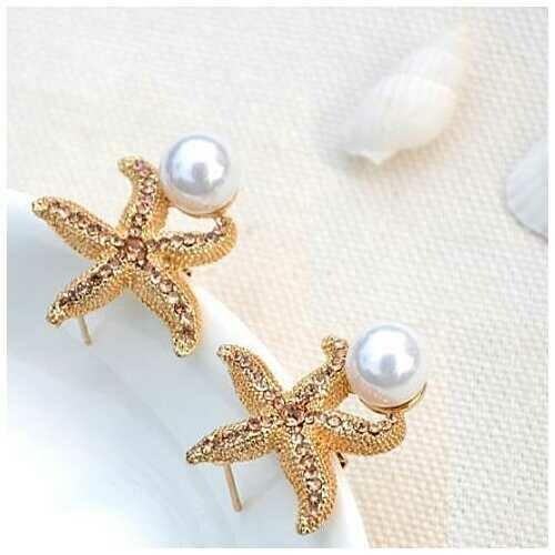 Gifts from the Sea - Starfish Pearl Earrings