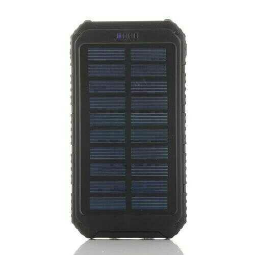 Roaming Solar Power Bank Phone or Tablet Charger - Color: Black