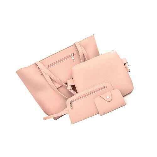 Uptown Handbag 4 In 1 Bags In A Bag - Color: SEASHELL PINK