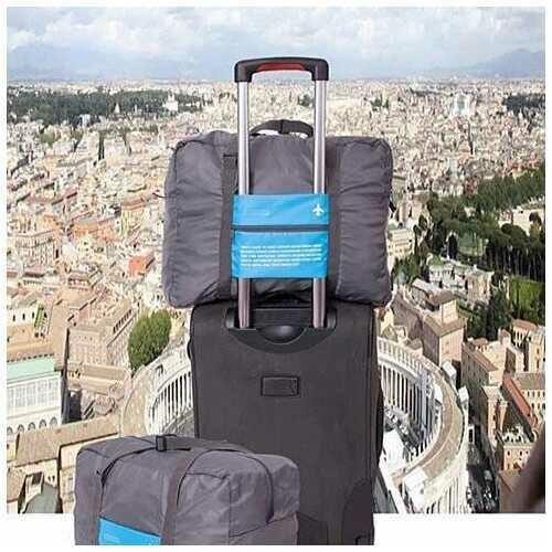 My Bag Buddy For World Traveler Compact Expandable Carry on Bag - Color: Blue-Grey