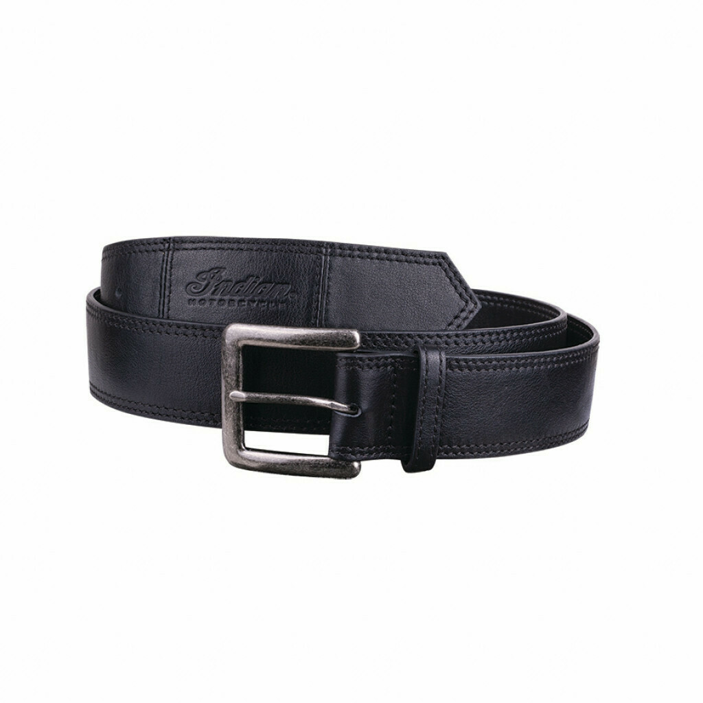 INDIAN BLACK LEATHER BELT