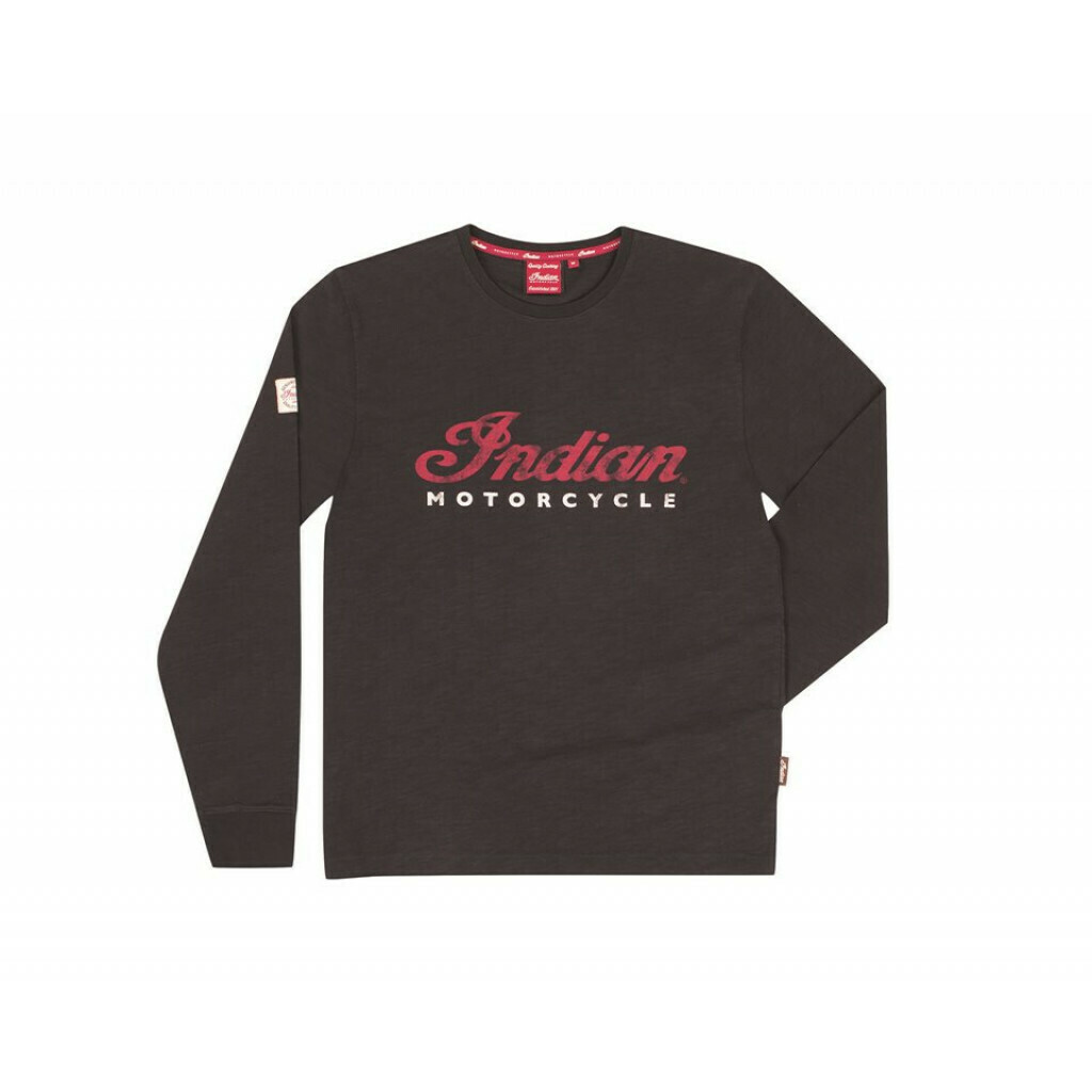 LONG SLEEVE LOGO TEE BLACK