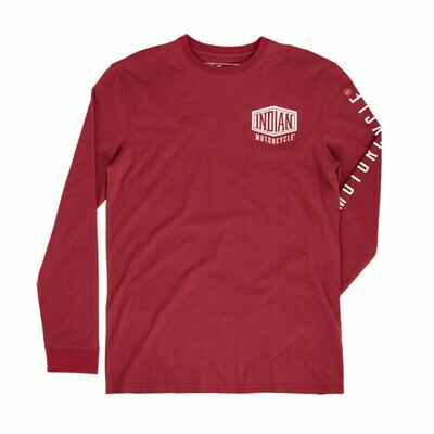 LONG SLEEVE SHIELD LOGO TEE