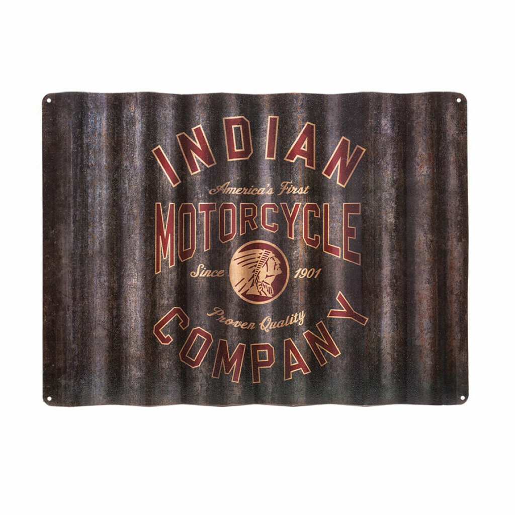 INDIAN CORRUGATED SIGN