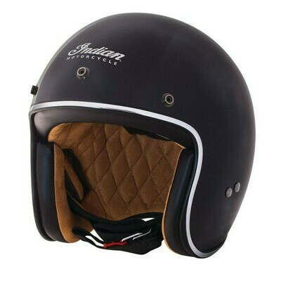 RETRO OPEN HELMET HI BLACK